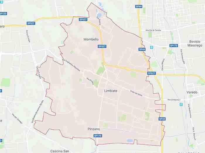 mappa limbiate mb