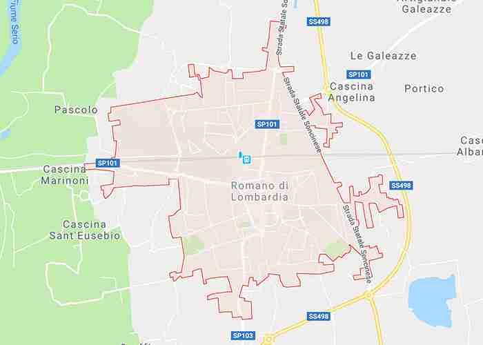 mappa romano di lombardia bg