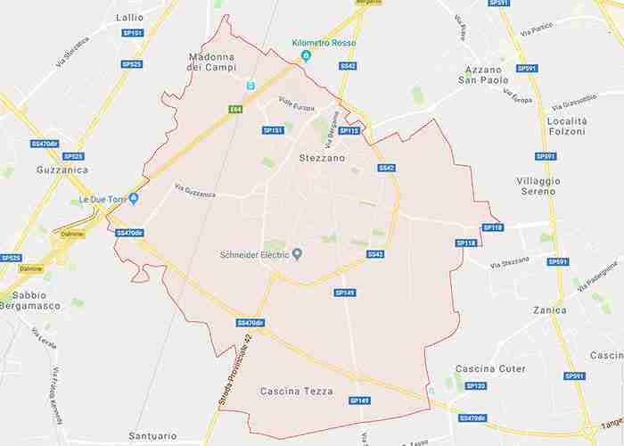 mappa stezzano bg