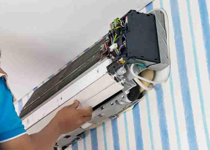 supermario24 smontaggio riparazione condizionatore fisso